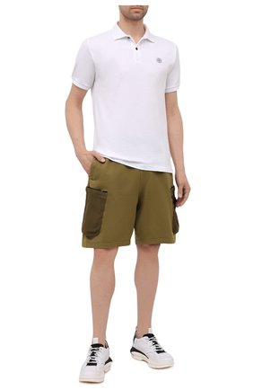 Мужские шорты STONE ISLAND SHADOW PROJECT хаки цвета, арт. 741960307   Фото 2