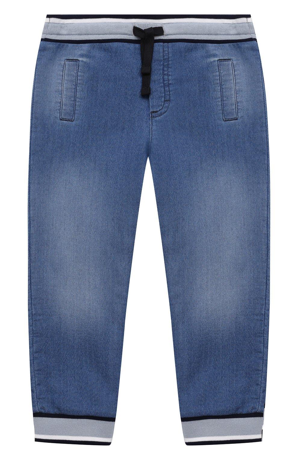 Детские джинсовые джоггеры DOLCE & GABBANA голубого цвета, арт. L1JPT0/G7YDZ   Фото 1