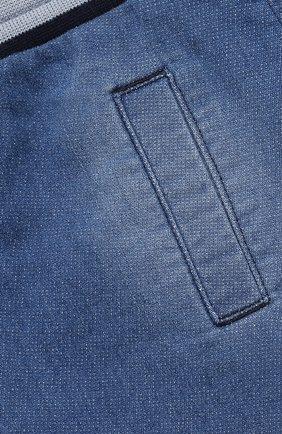 Детские джинсовые джоггеры DOLCE & GABBANA голубого цвета, арт. L1JPT0/G7YDZ   Фото 3