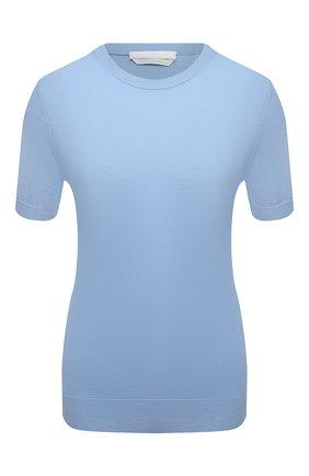 Женский шерстяной топ BOSS голубого цвета, арт. 50402269 | Фото 1