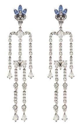 Женские серьги skeletons QUEENSBEE серебряного цвета, арт. 201378/17,03   Фото 1