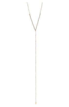 Женское колье J-POINT золотого цвета, арт. ИПГ857.23.170321.20P | Фото 2 (Материал: Золото)