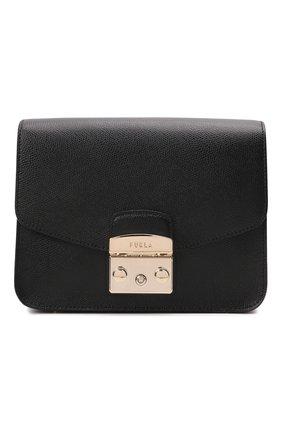Женская сумка metropolis small FURLA черного цвета, арт. WB00244   Фото 1