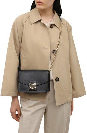 Женская сумка metropolis small FURLA черного цвета, арт. WB00244   Фото 2
