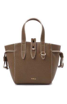 Женский сумка-тоут furla net mini FURLA коричневого цвета, арт. BASRFUA   Фото 1