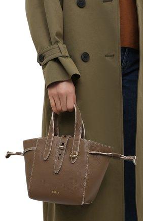 Женский сумка-тоут furla net mini FURLA коричневого цвета, арт. BASRFUA   Фото 2