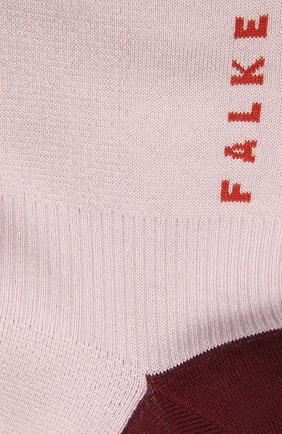 Женские хлопковые носки FALKE сиреневого цвета, арт. 46410 | Фото 2