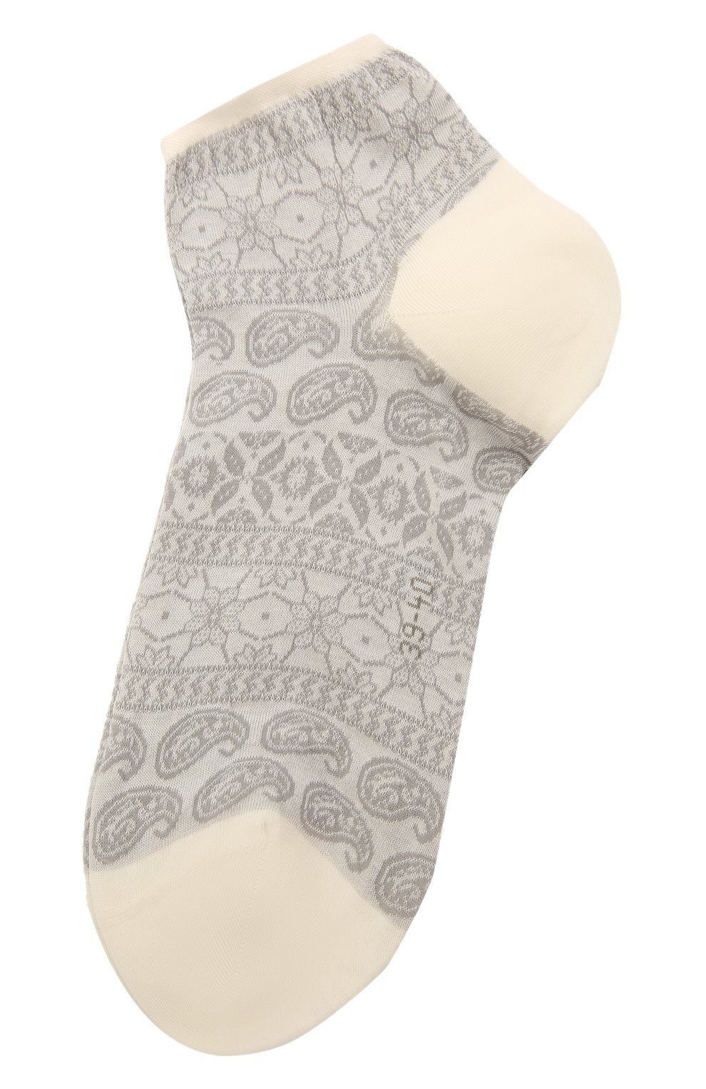 Женские хлопковые носки FALKE серого цвета, арт. 46394 | Фото 1