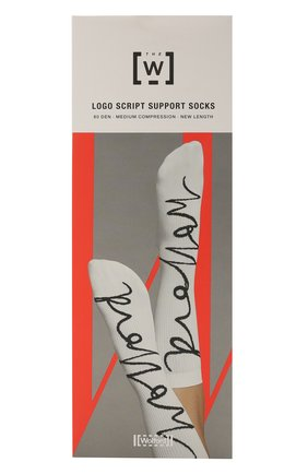 Женские носки WOLFORD черно-белого цвета, арт. 48046 | Фото 1