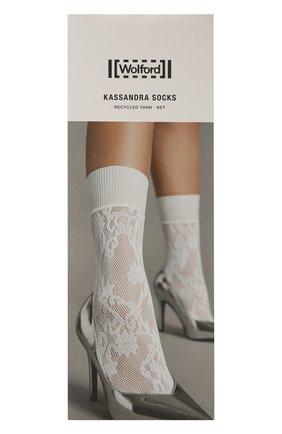 Женские носки WOLFORD белого цвета, арт. 41577   Фото 1