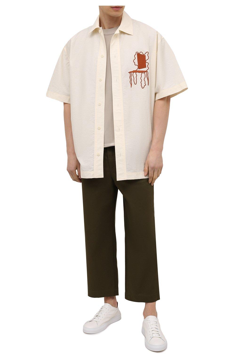 Мужские кожаные кеды loria low DIEMME белого цвета, арт. DI2001LL01 Loria Low | Фото 2 (Материал внутренний: Натуральная кожа; Подошва: Массивная)