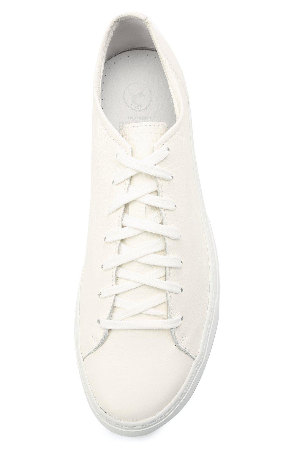Мужские кожаные кеды loria low DIEMME белого цвета, арт. DI2001LL01 Loria Low | Фото 5 (Материал внутренний: Натуральная кожа; Подошва: Массивная)