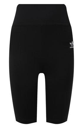 Женские шорты ADIDAS ORIGINALS черного цвета, арт. GN2842 | Фото 1 (Материал внешний: Синтетический материал; Стили: Спорт-шик; Длина Ж (юбки, платья, шорты): Мини; Женское Кросс-КТ: Шорты-одежда)