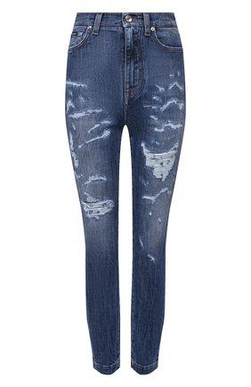 Женские джинсы DOLCE & GABBANA синего цвета, арт. FTBXHD/G900R | Фото 1