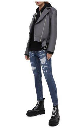 Женские джинсы DOLCE & GABBANA синего цвета, арт. FTBXHD/G900R | Фото 2