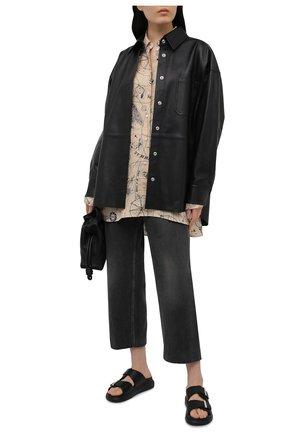 Женские кожаные шлепанцы ALEXANDER MCQUEEN черного цвета, арт. 650784/WHXZE   Фото 2