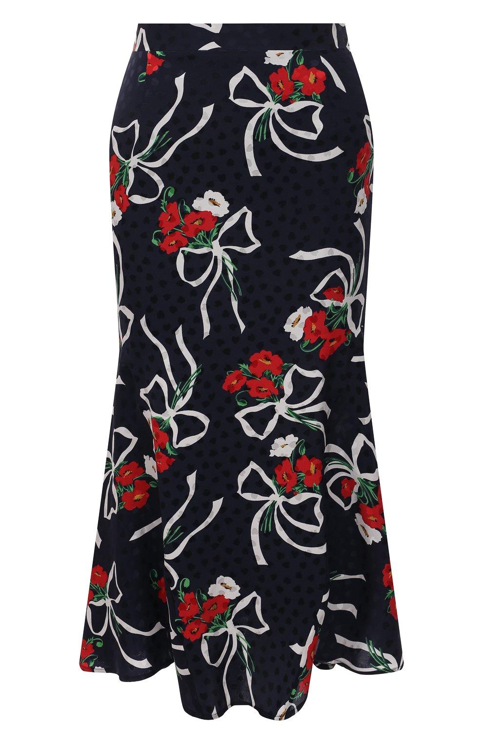 Женская шелковая юбка ALESSANDRA RICH синего цвета, арт. FAB2477-F3142   Фото 1