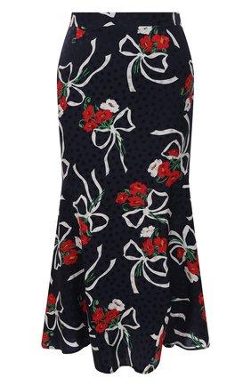 Женская шелковая юбка ALESSANDRA RICH синего цвета, арт. FAB2477-F3142 | Фото 1