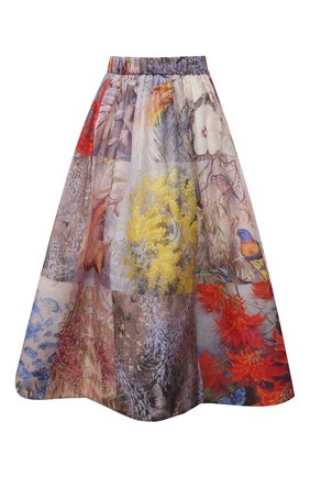 Женская юбка изо льна и шелка ZIMMERMANN разноцветного цвета, арт. 1342SB0T   Фото 1