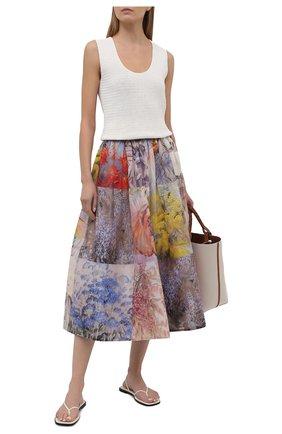 Женская юбка изо льна и шелка ZIMMERMANN разноцветного цвета, арт. 1342SB0T   Фото 2
