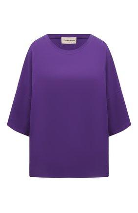 Женская хлопковая футболка ALEXANDRE VAUTHIER фиолетового цвета, арт. 212TS1400B 1229B-204 | Фото 1
