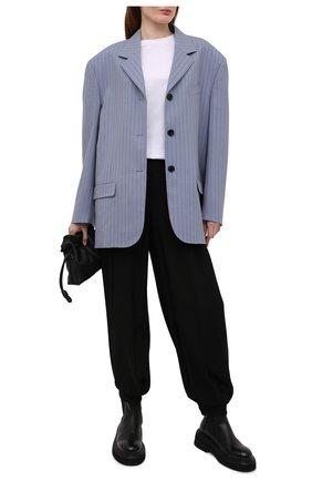 Женские брюки из вискозы ALEXANDRE VAUTHIER черного цвета, арт. 212PA1351 1451-212   Фото 2