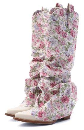 Женские текстильные сапоги R13 светло-розового цвета, арт. R13S0107-41   Фото 1