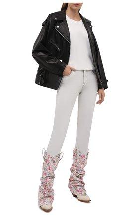 Женские текстильные сапоги R13 светло-розового цвета, арт. R13S0107-41   Фото 2