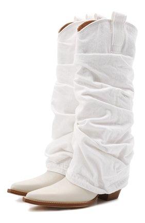 Женские текстильные сапоги R13 белого цвета, арт. R13S0107-WHT   Фото 1