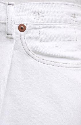 Женские джинсовые шорты R13 белого цвета, арт. R13W3148-910B   Фото 5 (Женское Кросс-КТ: Шорты-одежда; Кросс-КТ: Деним; Длина Ж (юбки, платья, шорты): Мини; Материал внешний: Хлопок, Деним; Стили: Спорт-шик)