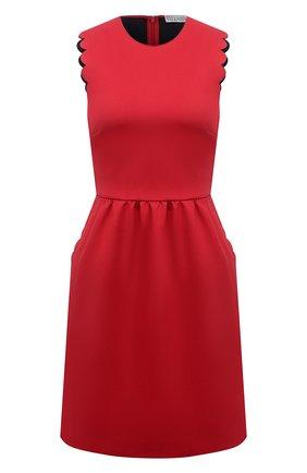 Женское хлопковое платье REDVALENTINO красного цвета, арт. VR0VAAG0/5S4 | Фото 1