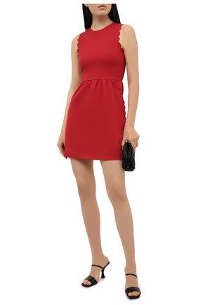 Женское хлопковое платье REDVALENTINO красного цвета, арт. VR0VAAG0/5S4 | Фото 2