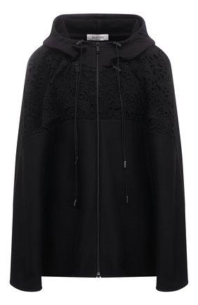 Женская хлопковая куртка VALENTINO черного цвета, арт. VB0MF09R6EE | Фото 1