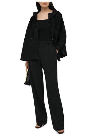 Женская хлопковая куртка VALENTINO черного цвета, арт. VB0MF09R6EE | Фото 2