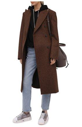 Женские кожаные кеды belle PREMIATA серого цвета, арт. BELLE/VAR5150 | Фото 2