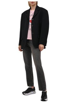 Женские комбинированные кроссовки conny PREMIATA черного цвета, арт. C0NNY/VAR4729 | Фото 2