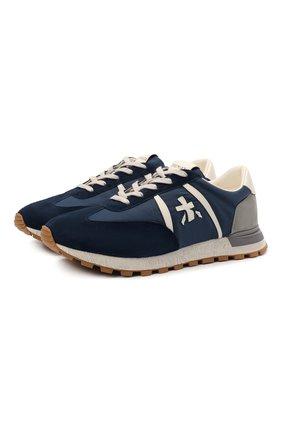 Мужские комбинированные кроссовки john-low PREMIATA синего цвета, арт. J0HNL0W/VAR5185 | Фото 1