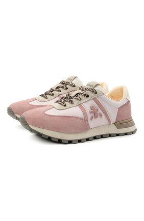 Женские комбинированные кроссовки john-low-d PREMIATA розового цвета, арт. J0HNL0WD/VAR5176 | Фото 1