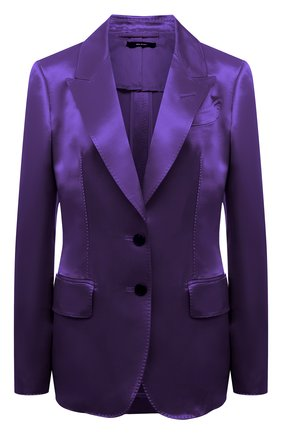 Женский жакет из вискозы TOM FORD фиолетового цвета, арт. GI2808-FAX828 | Фото 1