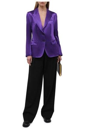 Женский жакет из вискозы TOM FORD фиолетового цвета, арт. GI2808-FAX828 | Фото 2