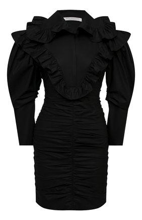 Женское хлопковое платье PHILOSOPHY DI LORENZO SERAFINI черного цвета, арт. A0402/2120 | Фото 1