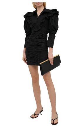 Женское хлопковое платье PHILOSOPHY DI LORENZO SERAFINI черного цвета, арт. A0402/2120 | Фото 2