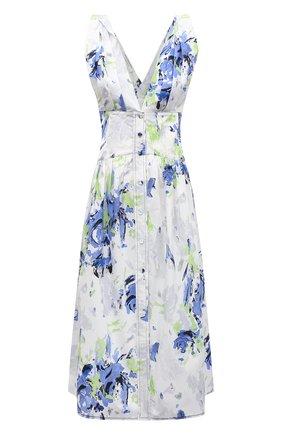 Женское хлопковое платье PHILOSOPHY DI LORENZO SERAFINI светло-голубого цвета, арт. A0415/2141 | Фото 1