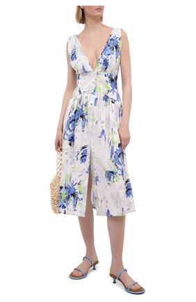 Женское хлопковое платье PHILOSOPHY DI LORENZO SERAFINI светло-голубого цвета, арт. A0415/2141 | Фото 2