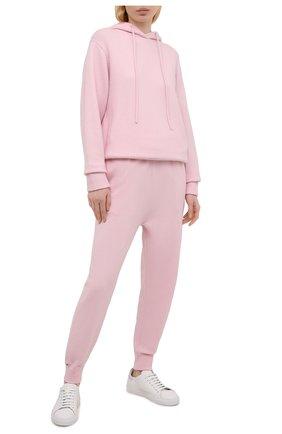 Женские кашемировые джоггеры EXTREME CASHMERE розового цвета, арт. 056/Y0GI | Фото 2