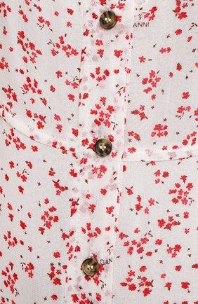 Женское платье из вискозы GANNI разноцветного цвета, арт. F5876 | Фото 5
