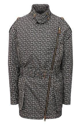 Женская куртка BALMAIN черно-белого цвета, арт. VF0TD015/I666 | Фото 1