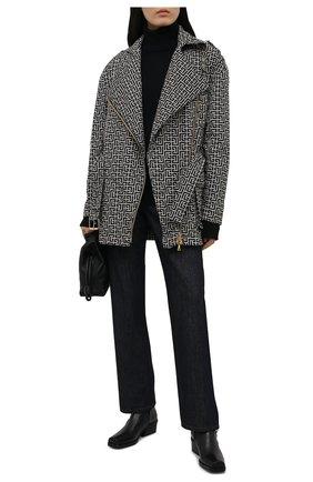 Женская куртка BALMAIN черно-белого цвета, арт. VF0TD015/I666 | Фото 2