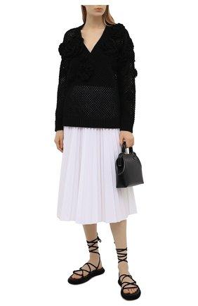 Женский хлопковый пуловер VALENTINO черного цвета, арт. VB0KC22L6BU | Фото 2