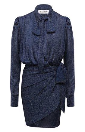 Женское платье из вискозы LANVIN темно-синего цвета, арт. RW-DR0101-4810-E21   Фото 1
